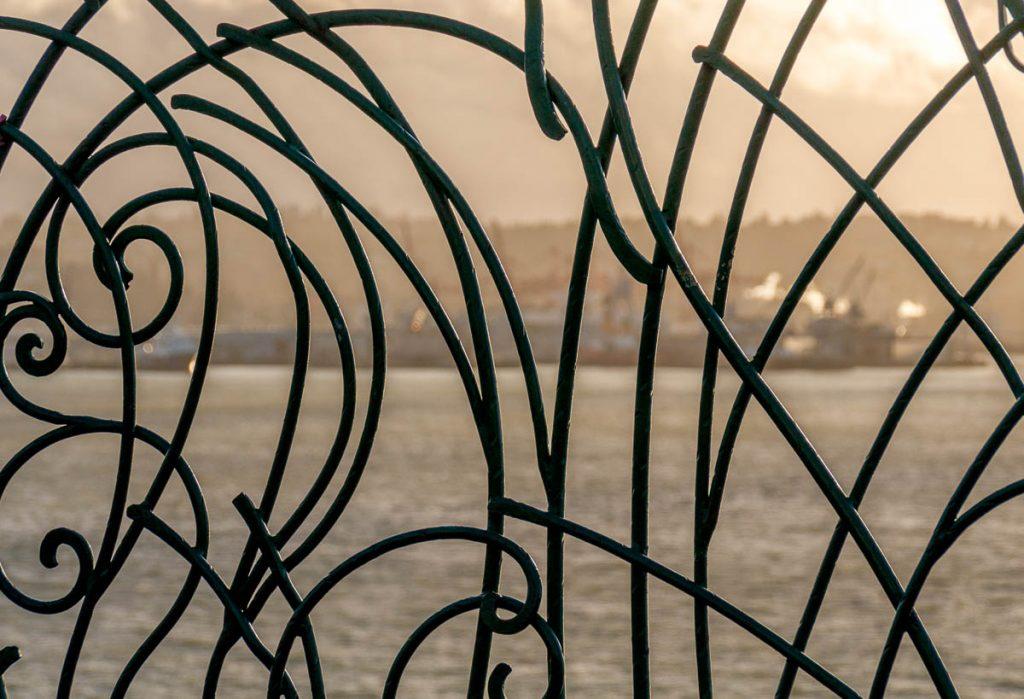 Hekwerk,Waterfront, Seattle, Washington, Verenigde Staten (2010)