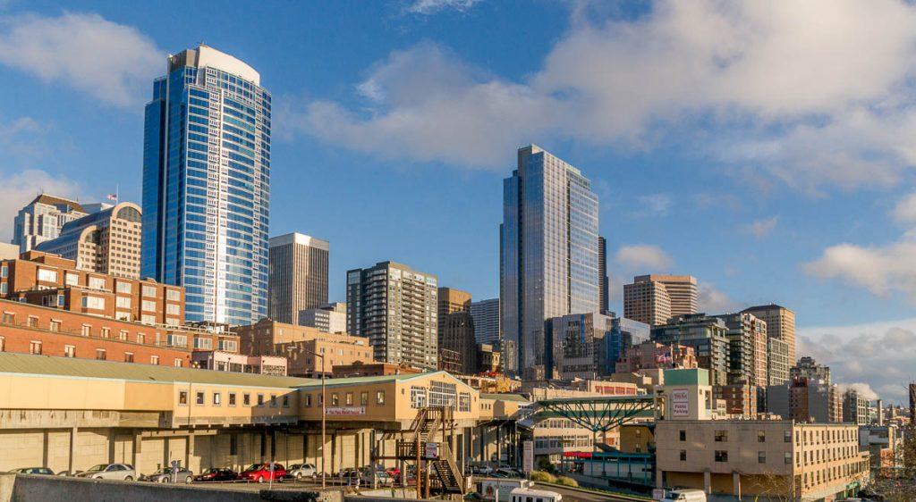 Skyline,Waterfront, Seattle, Washington, Verenigde Staten (2010)
