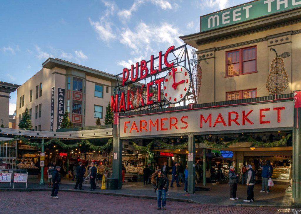 Markt,Pike Place Market, Seattle, Washington, Verenigde Staten (2010)