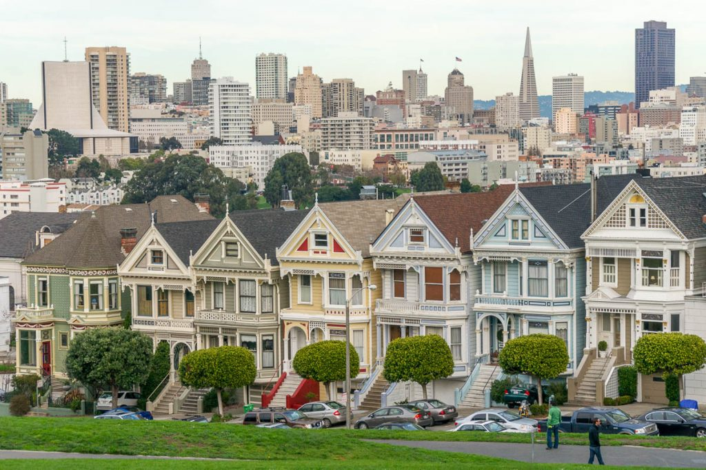 Postcard Row,Alamo Square, San Francisco, Californië, Verenigde Staten (2010)