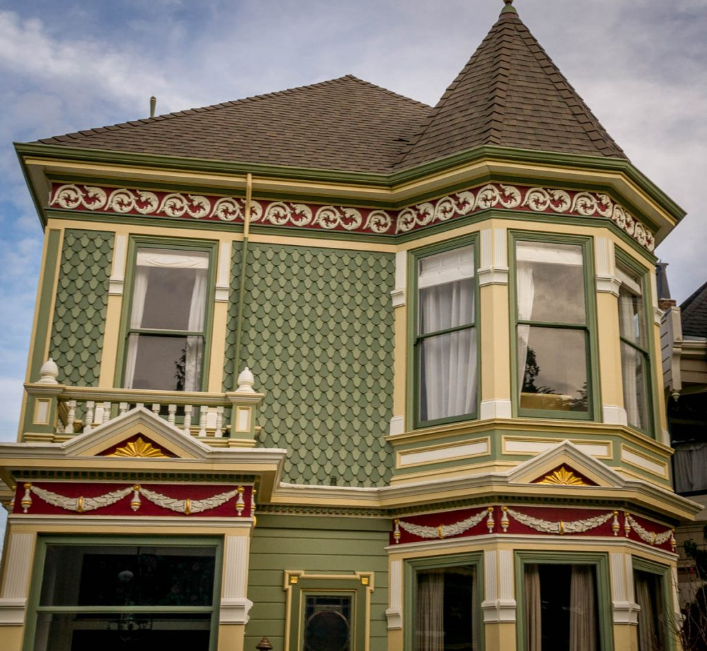 Een 'Painted Lady',Alamo Square, San Francisco, Californië, Verenigde Staten (2010)