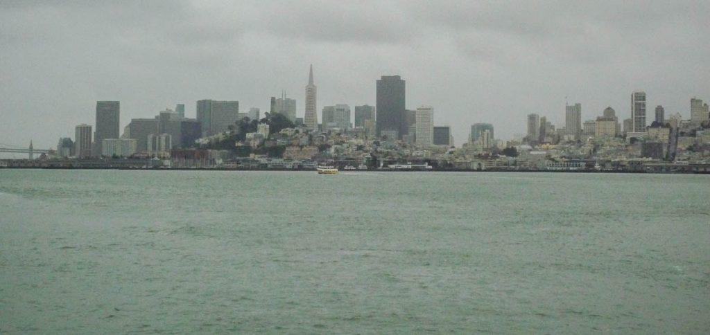 Skyline,Alcatraz, San Francisco, Californië, Verenigde Staten (2010)