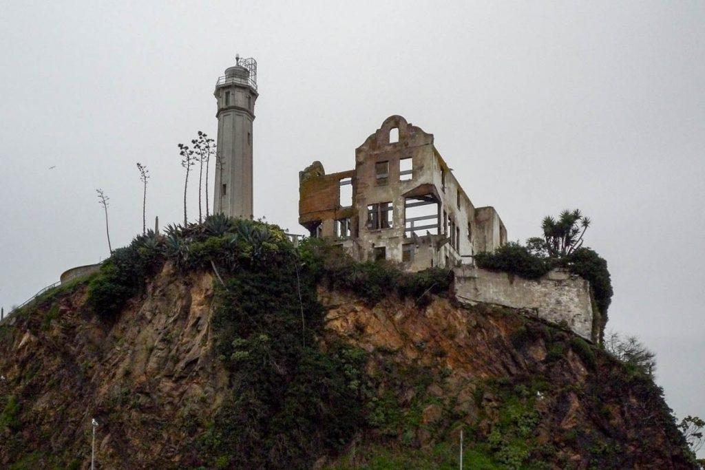 Vuurtoren & Warden's House,Alcatraz, San Francisco, Californië, Verenigde Staten (2010)
