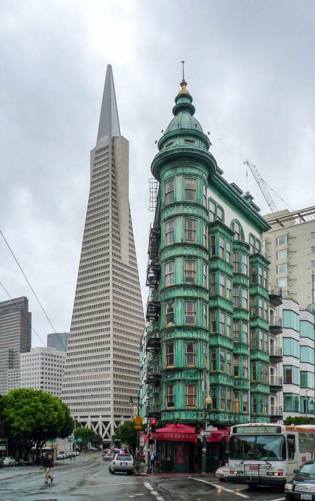 Transamerica Pyramid & Sentinel Building,San Francisco, Californië, Verenigde Staten (2010)