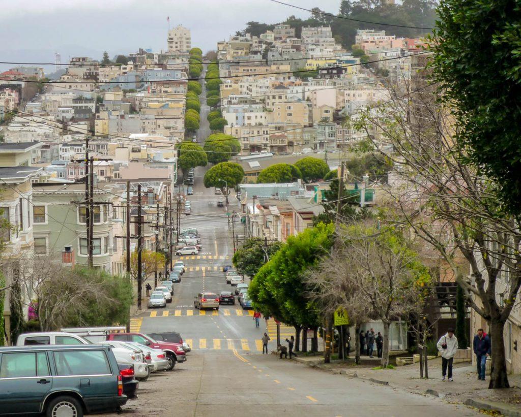 Lombard Street,San Francisco, Californië, Verenigde Staten (2010)