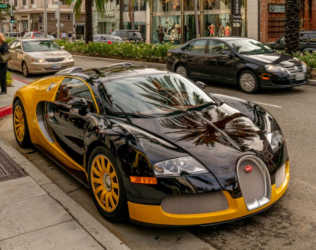 Bugatti EB 164 Veyron,Rodeo Drive, Los Angeles, Californië, Verenigde Staten (2010)