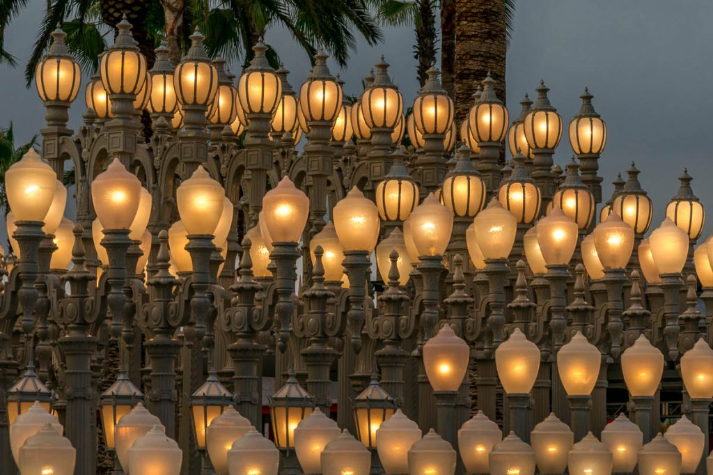 Urban Lights (Chris Burden, 2008),LA County Museum of Art, Los Angeles, Californië, Verenigde Staten (2010)