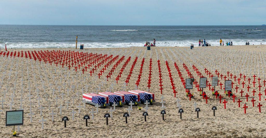 Demonstratie op het strand,Californië, Verenigde Staten (2010)