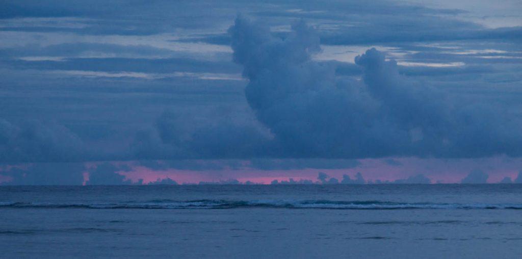 Zonsondergang,Aroa Beach, Aroa, Rarotonga, Cook Eilanden (2010)
