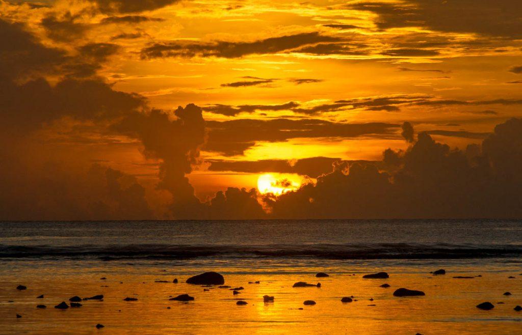 Zonsondergang,Aroa Beach, Aroa, Rarotonga, Cook Eilanden (2011)