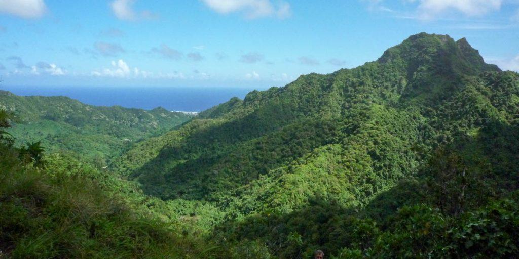 Uitzicht vanaf de top,Cross Island Trek, Rarotonga, Cook Eilanden (2011)