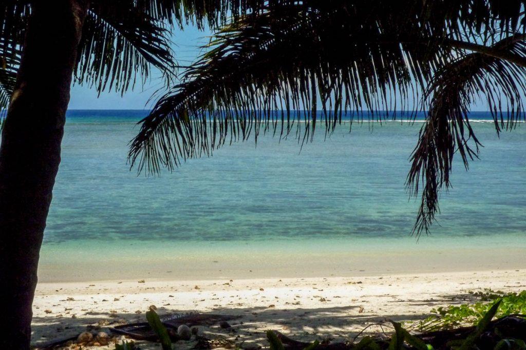 Het strand,Aroa Beach, Aroa, Rarotonga, Cook Eilanden (2011)