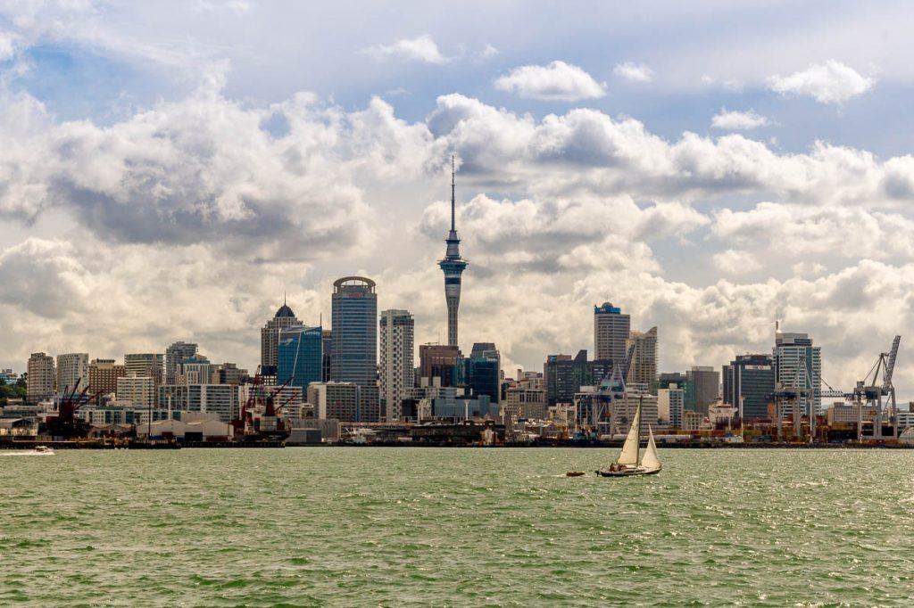 Auckland Skyline,Devonport, Auckland, Auckland, Nieuw Zeeland (2011)