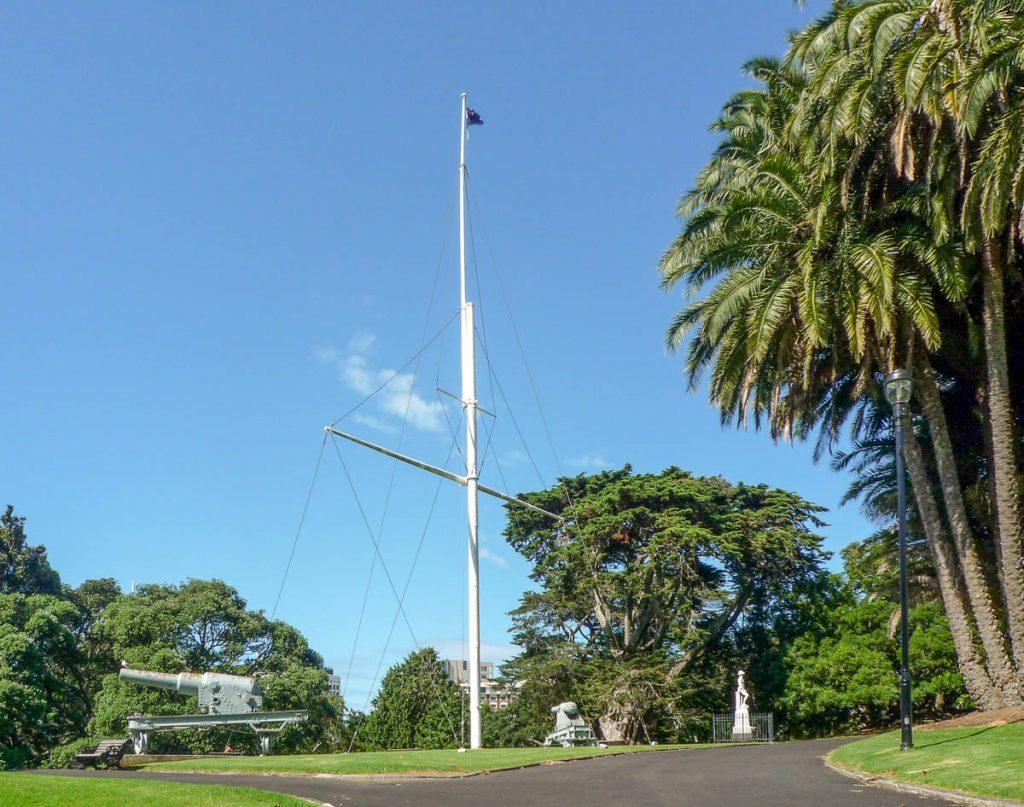 Geschiedenis in het park,Albert Park, Auckland, Auckland, Nieuw Zeeland (2011)
