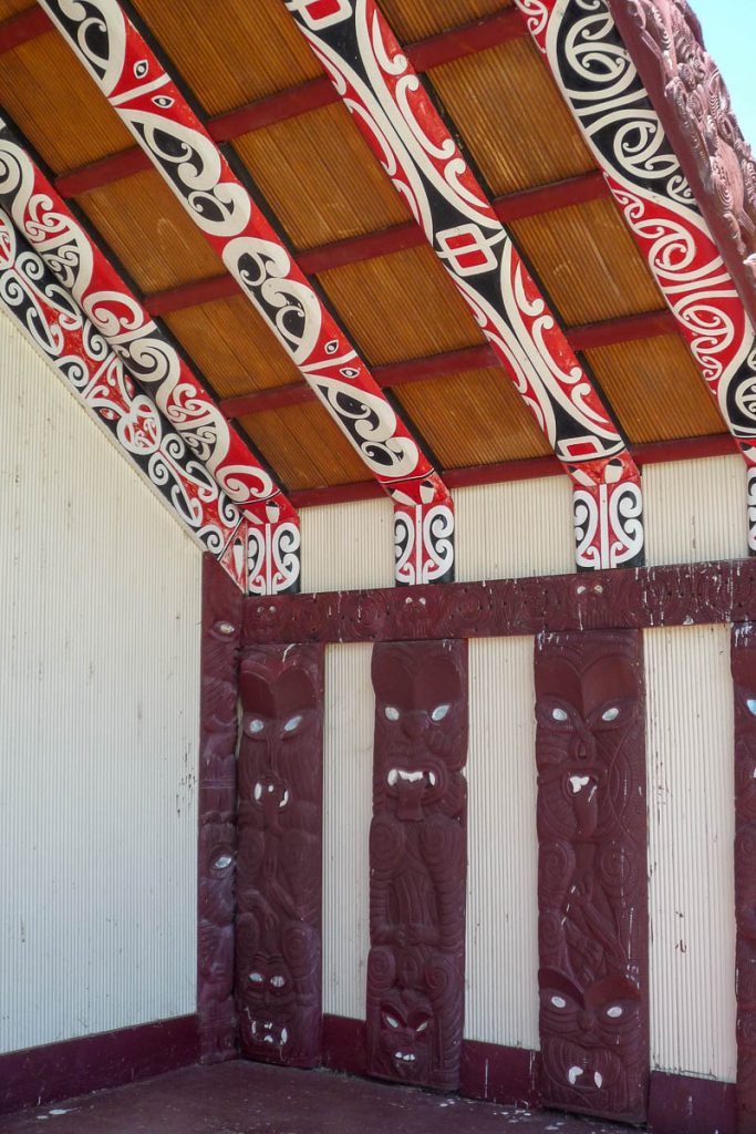Wharenui,Maketu Marae, Kawhia, Waikato, Nieuw Zeeland (2011)