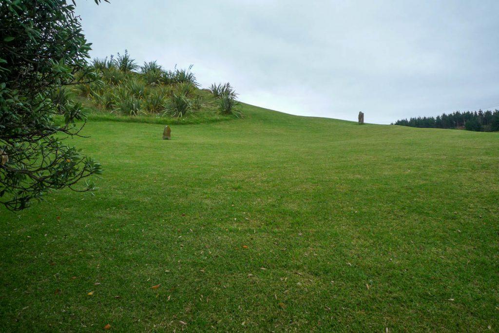 Hier is de historische 'Tainui' begraven,Maketu Marae, Kawhia, Waikato, Nieuw Zeeland (2011)