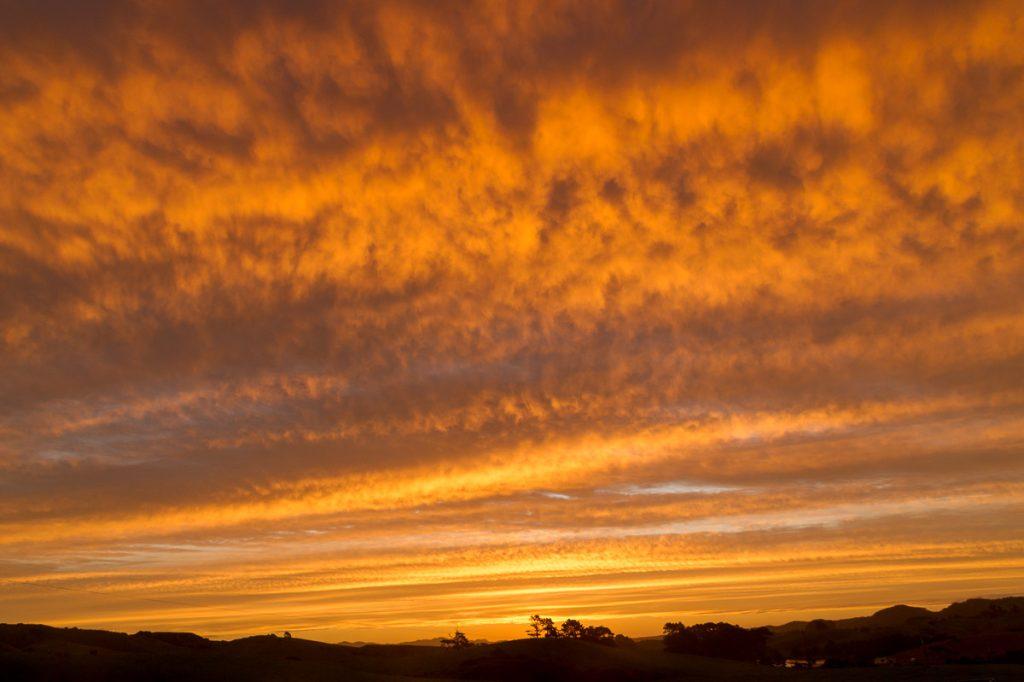 Zonsondergang,Oparau Roadhouse, Oparau, Waikato, Nieuw Zeeland (2011)