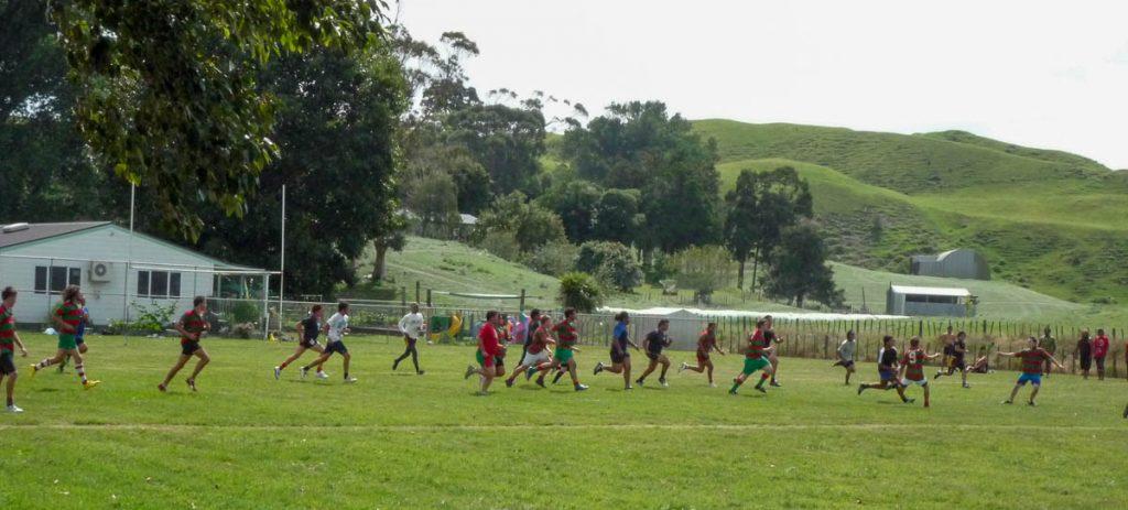 Highschool rugby,Kawhia, Waikato, Nieuw Zeeland (2011)