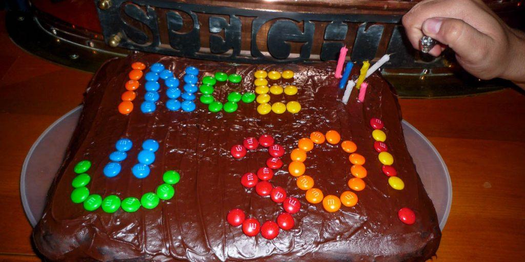 Jenna had voor mij een taart gemaakt