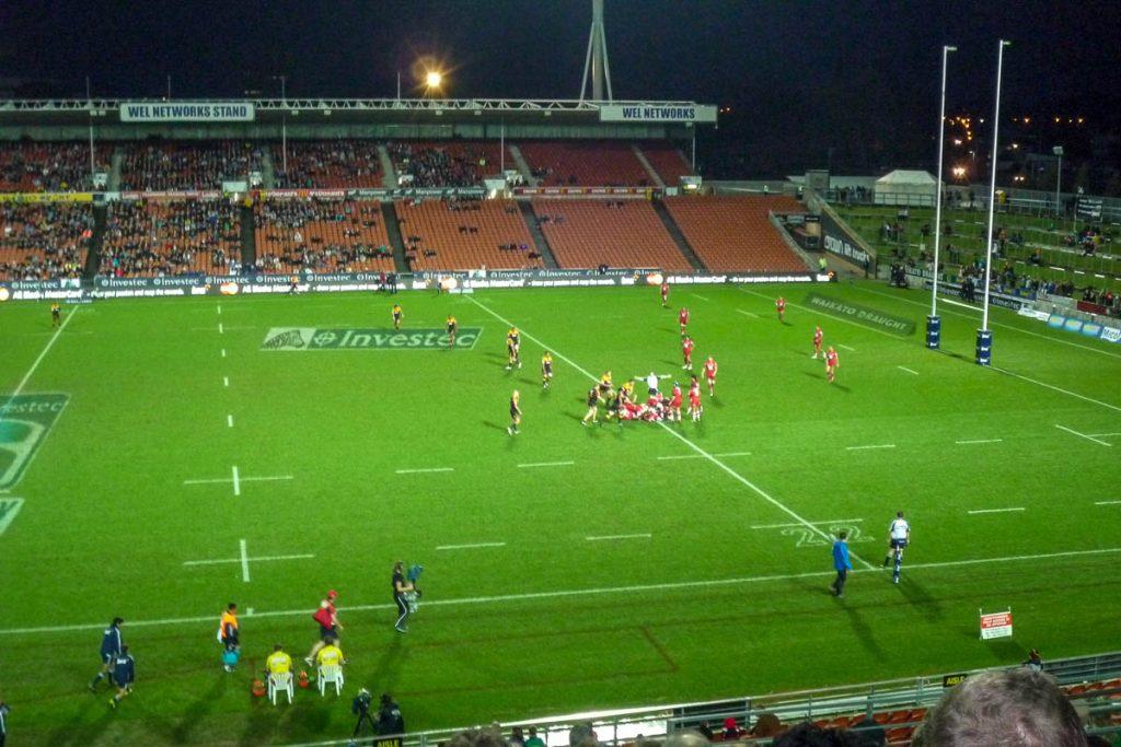The Chiefs tegen the Reds,Waikato Stadium, Hamilton, Waikato, Nieuw Zeeland (2011)