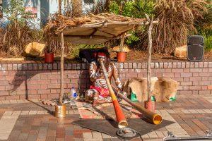 Didgeridoo speler