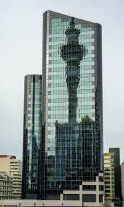 Reflectie van de Skytower