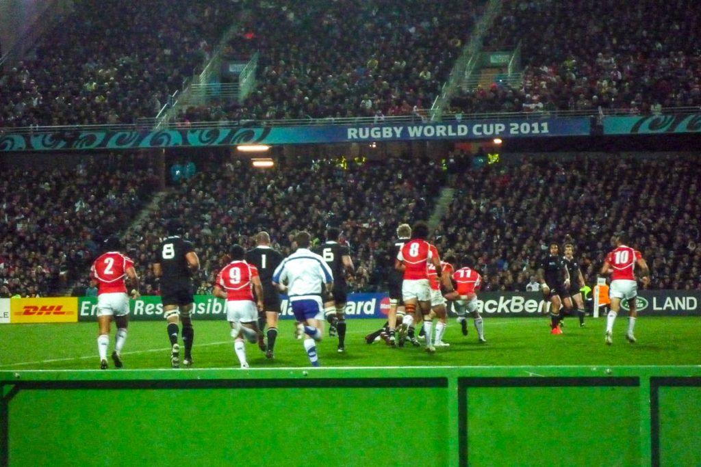 All Blacks tegen Japan,Waikato Stadium, Hamilton, Waikato, Nieuw Zeeland (2011)