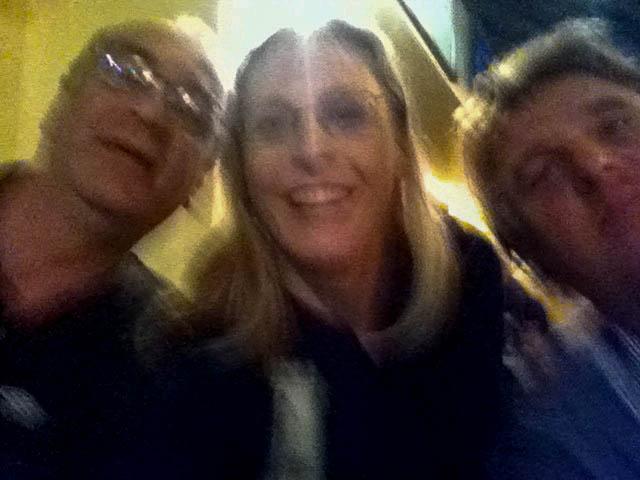 Ray, Ed & ik. Gare foto. Ik weet het.