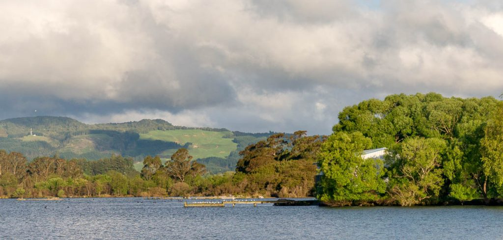 Lake Rotorua,Lake Rotorua, Rotorua, Bay of Plenty, Nieuw Zeeland (2011)