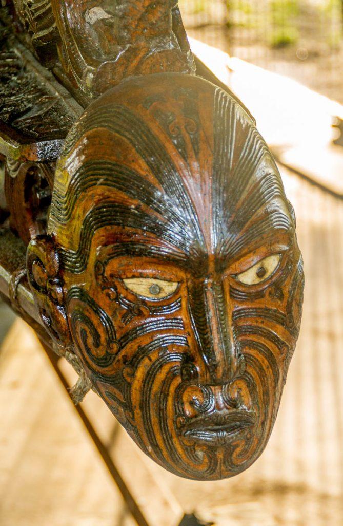 Traditionele waka,Te Arawa Waka Taua, Rotorua, Bay of Plenty, Nieuw Zeeland (2011)