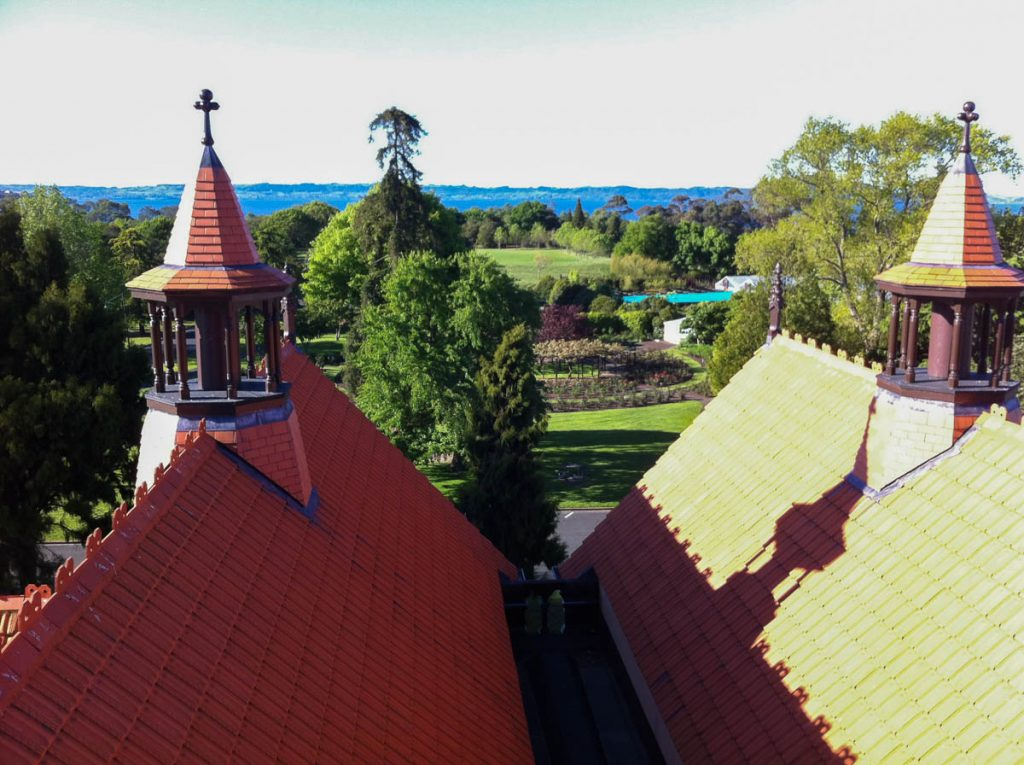Op het dak,Rotorua Museum, Rotorua, Bay of Plenty, Nieuw Zeeland (2011)