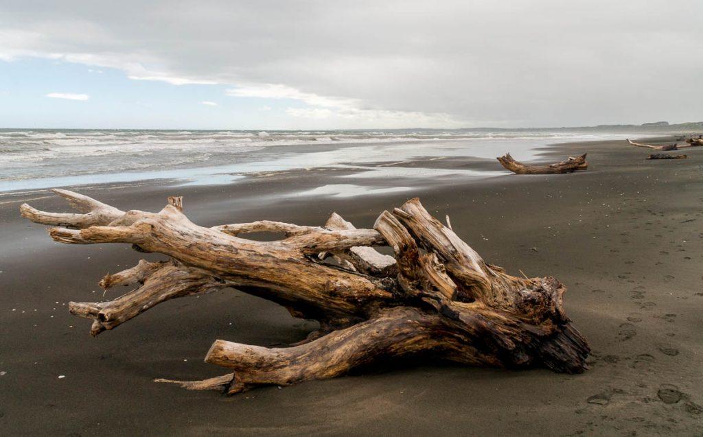 Zwart zand,Castlecliff, Wanganui, Manawatu-Wanganui, Nieuw Zeeland (2011)