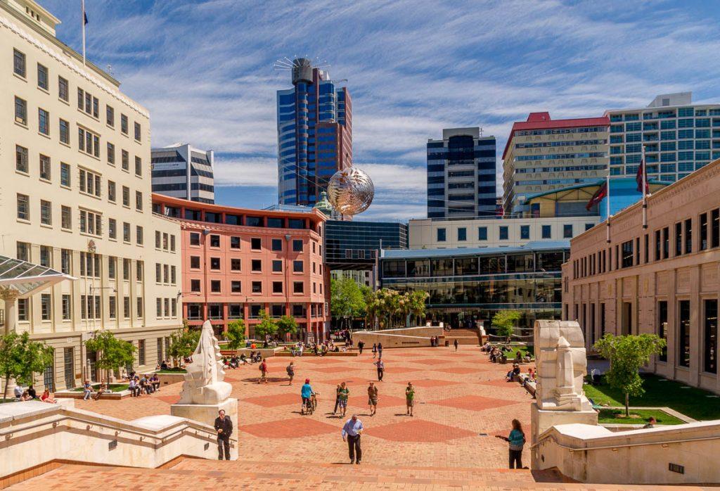 Civic Square,Civic Square, Wellington, Wellington, Nieuw Zeeland (2011)