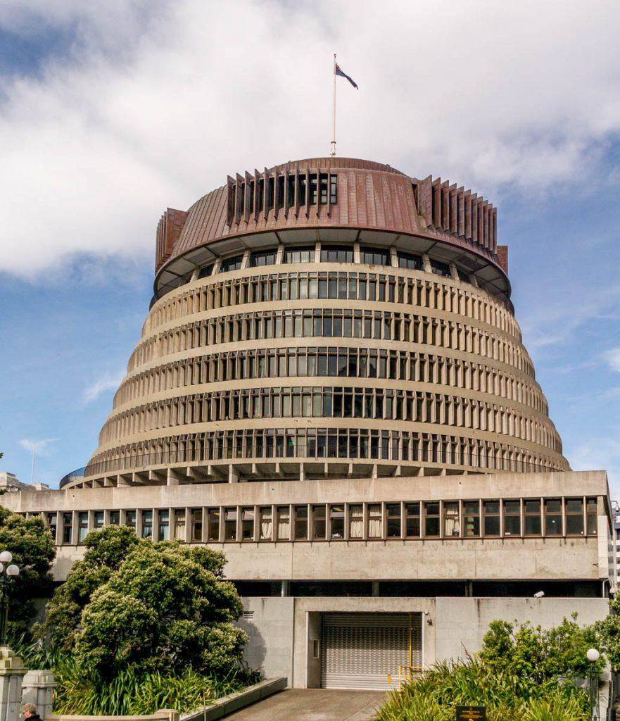 Beehive,Wellington, Wellington, Nieuw Zeeland (2011)
