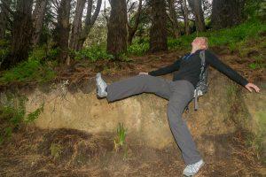 Hier vielen de hobbits van het heuveltje, vlak voor ze paddestoelen vonden