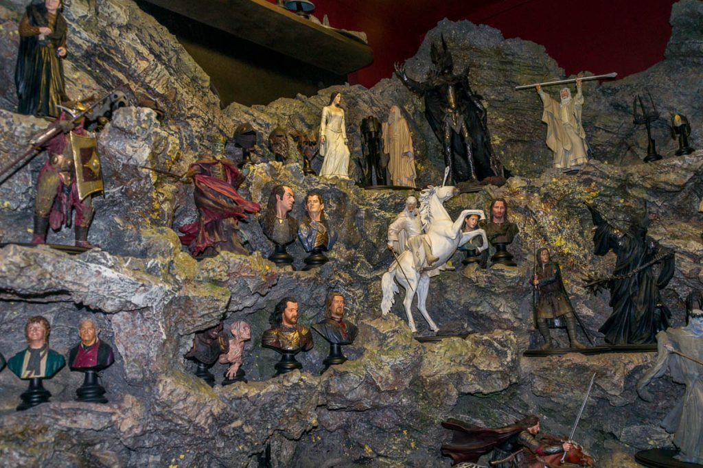 Lord of the Rings poppetjes,Weta Cave, Wellington, Wellington, Nieuw Zeeland (2011)