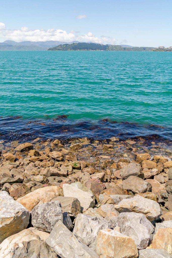 Rotsen & water,InterIslander , Wellington, Wellington, Nieuw Zeeland (2011)