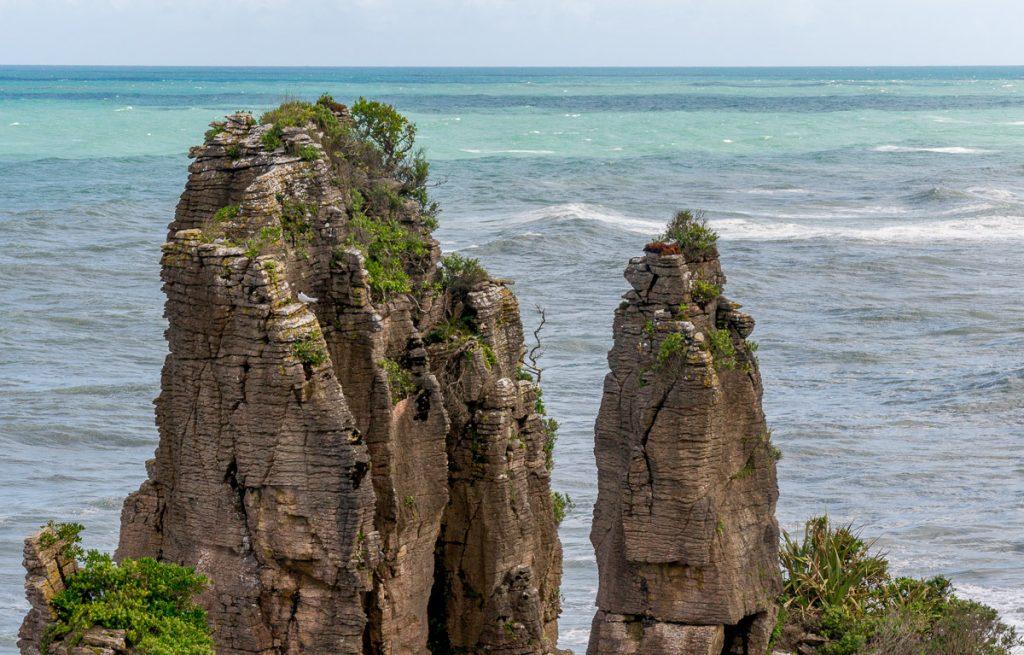 Rotsformatie,Pancake Rocks, Paparoa National Park, West Coast, Nieuw Zeeland (2011)