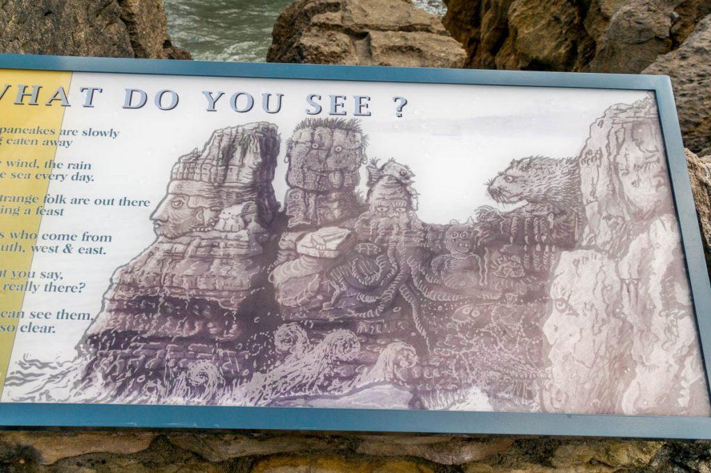 Wat zie jij?,Pancake Rocks, Paparoa National Park, West Coast, Nieuw Zeeland (2011)