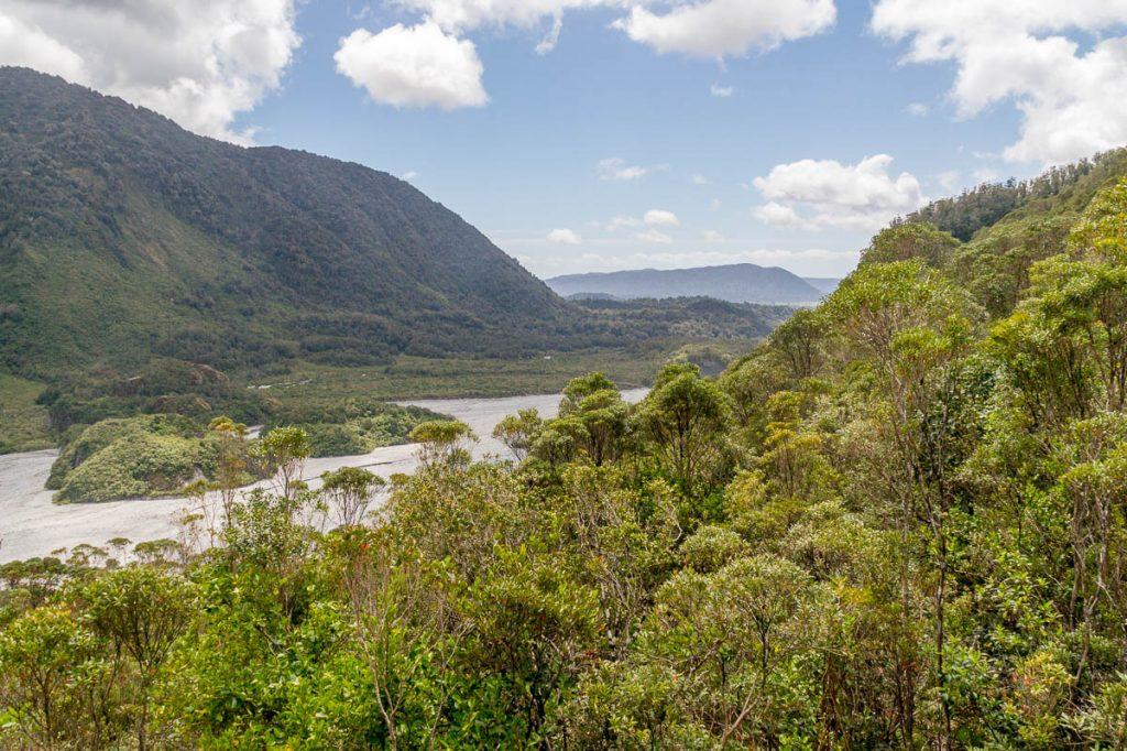 Uitzicht,Roberts Point Track, Westland National Park, West Coast, Nieuw Zeeland (2011)