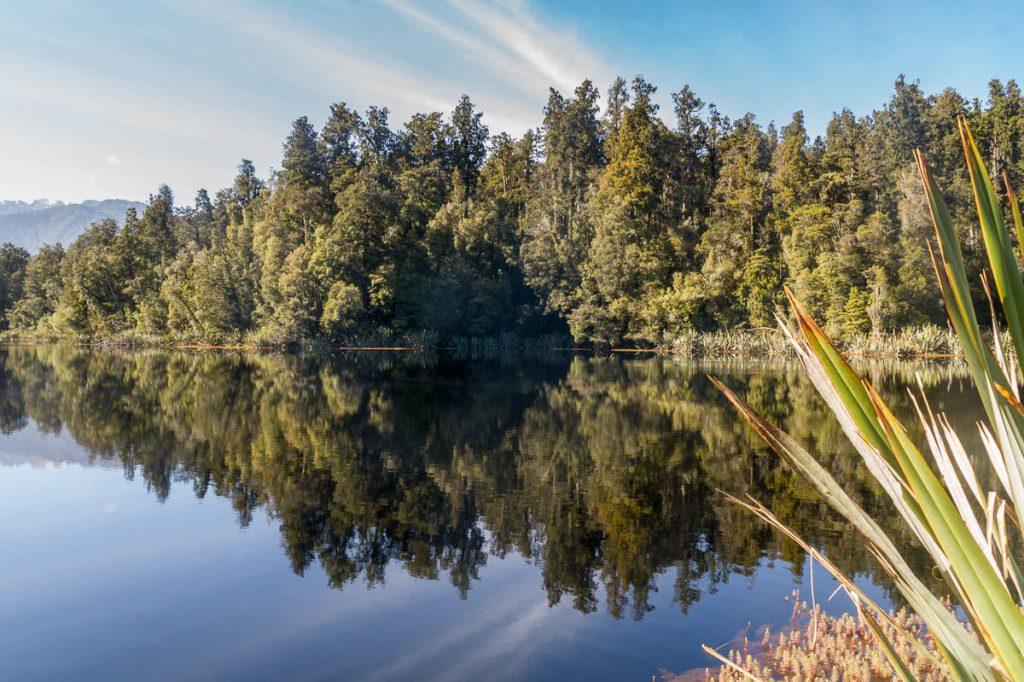 Reflectie,Lake Matheson, Westland National Park, West Coast, Nieuw Zeeland (2011)