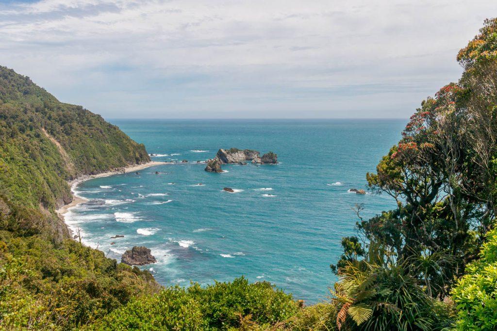Uitzicht op de Tasman Sea,Haast, West Coast, Nieuw Zeeland (2011)