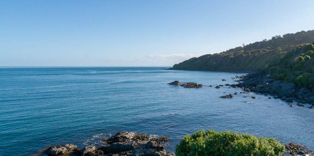 Veel zuidelijker dan dit kan bijna niet...,Stirling Point, Bluff, Southland, Nieuw Zeeland (2011)