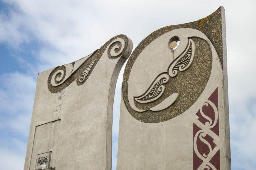 Māori-keltisch kunstwerk,Invercargill, Southland, Nieuw Zeeland (2011)