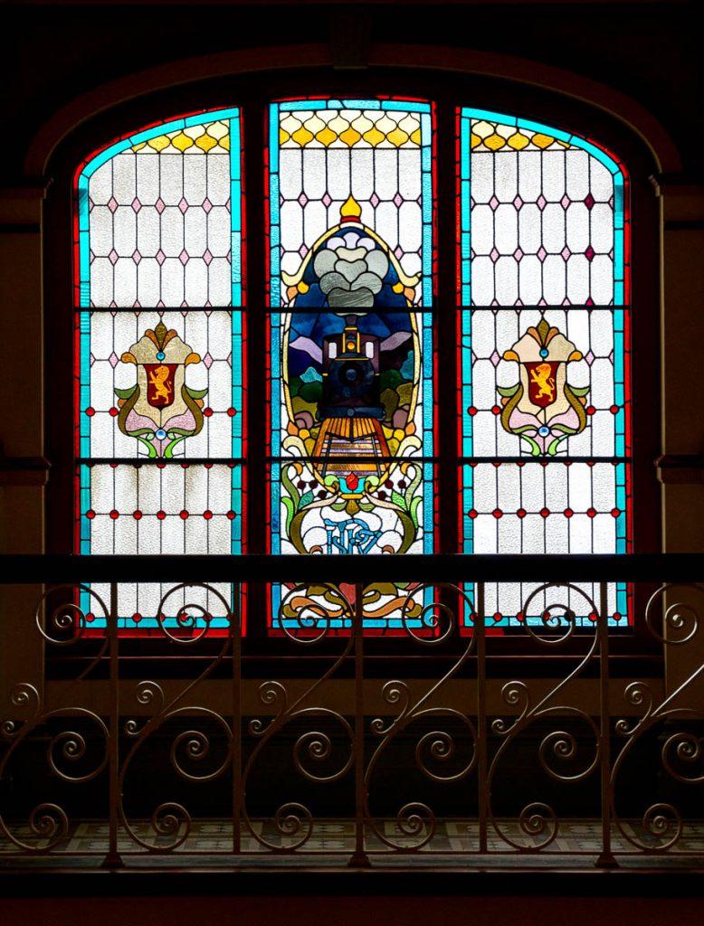 Glas in lood,Railway Station, Dunedin, Otago, Nieuw Zeeland (2011)