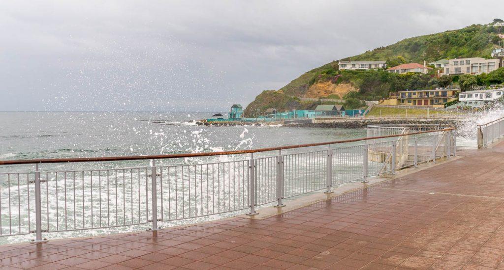 Klotsende golven,Dunedin, Otago, Nieuw Zeeland (2011)