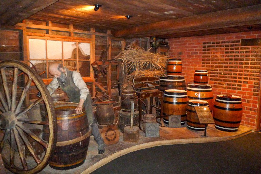 Zo werden de vaten gemaakt,Speight's Brewery, Dunedin, Otago, Nieuw Zeeland (2011)