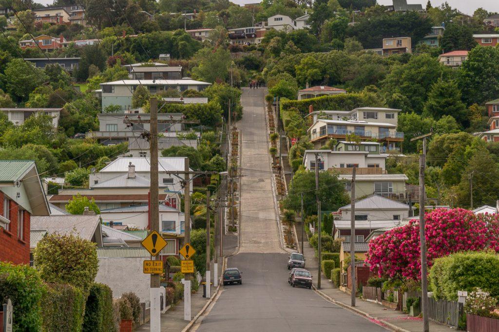 's Werelds steilste straat,Baldwin Street, Dunedin, Otago, Nieuw Zeeland (2011)