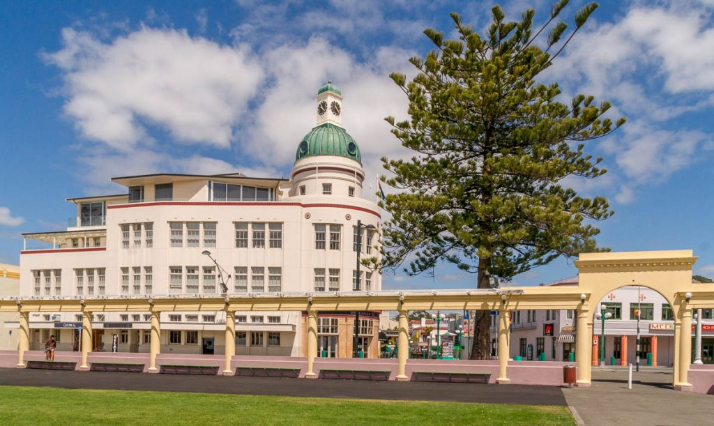 Art Deco Architectuur,Emerson Street, Napier, Hawke's Bay, Nieuw Zeeland (2011)