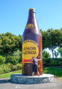 Giant Lemon & Paeroa Bottle
